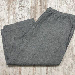 NWT J. Jill Love Linen Black & White Capri Pants